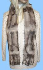 NEW WOMENS NORWEGIAN BLUE FOX PAW FUR SCARF MUFFLER 62 inch FUR ON BOTH SIDES
