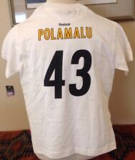 Pittsburgh Steelers Super Bowl XLIII Champions Reebok Polamalu #43 T-Shirt M NEW