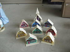 Vintage Lot of Plastic Lighted Buildings w/ Church LOOK