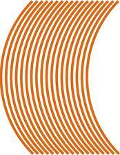 5 mm rueda llanta cinta rayas adhesivos NARANJA.. bandas (38 piezas/9 por rueda)