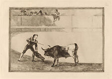 Goya Prints: La Tauromaquia: Bullfights: Romero killing the bull: Fine Art Print