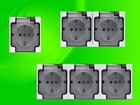 Aufputzsteckdose IP44 16A/250V Aufputz Feuchtraum Steckdose 1-fach 2-fach 3-fach