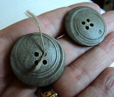 FAB ART DECO  CARVED CELLULOID  BUTTONS BEIGE 1 1/8 INCH X3