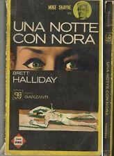 """L02. GIALLI GARZANTI  N. 11 edito 1964  - """"Una notte con Nora"""" - Brett Halliday"""