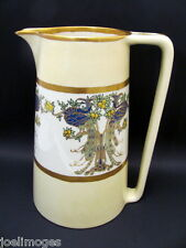 Antique Hand Painted Willets American Belleek Peacock Tankard Pitcher 1909