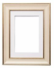Shabby Chic Picture Frame, SC Photo Frame Poster Frame With Mount CREAM GUNMETAL