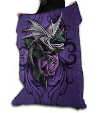 DRAGON BEAUTY Fleece Blanket / Throw 120cm x 150cm by ANNE STOKES Official Merch