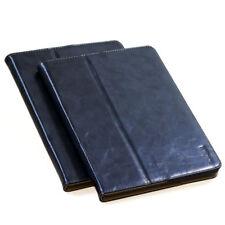 Luxus Schutzhülle für Apple iPad Air 2 Tablet Leder Tasche Cover Case Etui blau