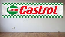 Castrol Racing Banner Flag 2x8Ft Auto Part Oil Racing Car Flag Wall Decor