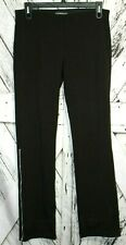 Equestrian Womens Stretch Off Black Riding Pants Calf Zip Elastic Waist Show