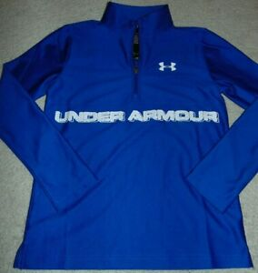 ~NWT Boys UNDER ARMOUR 1/4th Zip Long Sleeve Top! Size YMD Loose Fit Nice!