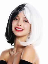 Wig Ladies Cosplay short Bob Long Bob Fringe Voluminous Smooth half Black White