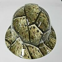 NEW FULL BRIM Hard Hat custom hydro dipped in BATTLE  ARMOR MILITARY SICK NEW