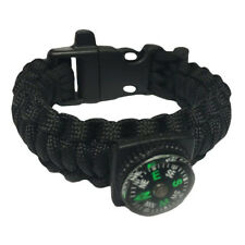 Paracord Bracelet Emergency Kit with Whistle Compass Flint Survival Rope