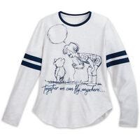 Disney store Women Winnie the Pooh Christopher Robin Tee Shirt Top NEW