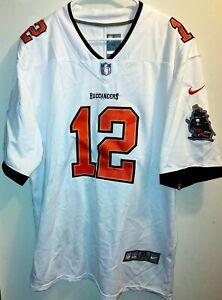 Tom Brady #12 Tampa Bay Buccaneers White Jersey SUPER BOWL Patch Size : XL