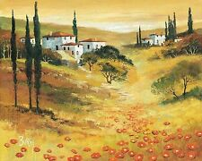 Burgy: Autumn In Tuscany I Toskana Fertig Bild 50x70 Wandbild Mediterran  Deko