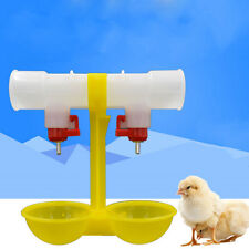 Double Outlets Drinking Hanging Chickens Cups Nipples Drinkers Poultry Waterer