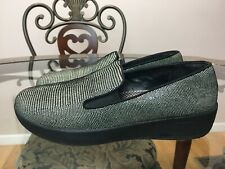 FitFlop Women's Lizard-Print Loafers Size 7M Style E05 -001 EXCELLENT #015