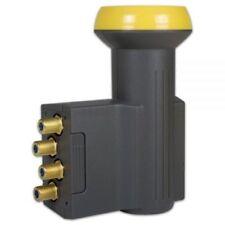 Humax 143 Gold Quad Sat LNB LNC 40mm Feed Satelliten 0,1dB Digital Konverter