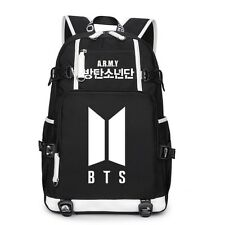 KPOP BTS Backpack Bangtan Boys New Logo Bookbag Shoulder Bag SUGA J-HOPE JIMIN V