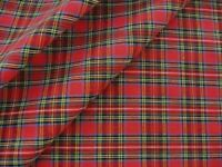 Royal Stewart Red Christmas Tartan Plaid Rag Quilt Cotton Doll Homespun Fabric