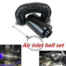 "Black 3"" Car Filter Box Title Carbon Fiber Induction Ram Cold Air Intake System"
