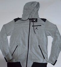 Nike Jordan Full Zip Retro Hoodie Jacket M Gray Black Casual Basketball Gym New