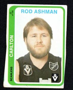 1979 SCANLENS ROD ASHMAN (CARLTON)