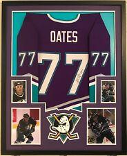 f9b68296d Adam Oates Autographed Custom Framed Anaheim Ducks Jersey 'HOF 12' JSA ...
