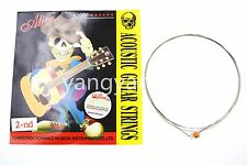 10 Pack A206P/015 Acoustic Guitar Strings 2nd B-2 Single Stainless Steel Strings