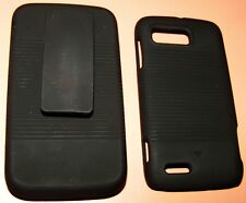 Hard case & Holster Belt Clip combination for Motorola ATRIX 2 MB865, Black