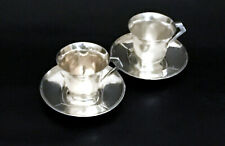 Two Rare Christofle/Gallia Moka Cups and Saucers by Sue & Mare – Art Deco 1930's