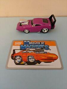 1/64 MUSCLE MACHINES 1969 DODGE CHARGER DAYTONA DIECAST 69 Purple w/ Card