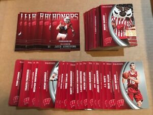 MASTER SET (100 Cards) 2015 Panini Collegiate WISCONSIN BADGERS w Silver +Honors