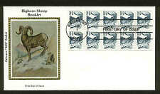 """1949a BOOKLET PANE of 10 BIG HORN SHEEP FDC BIG HORN, MT COLORANO """"SILK"""" CACHET"""