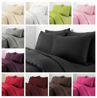 Plain Duvet Cover Pillowcase Set Dyed Quilt Cover Bedding Set Single Double King
