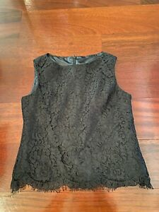 NWT Monkey Wear Girl's youth Black Lace Sleeveless Top size 10