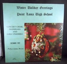 Winter Holiday Greetings Point Loma High School (San Diego) December 1972