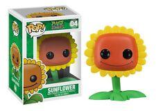 FUNKO POP PLANTS VS ZOMBIES #04 SUNFLOWER~RARE RETIRED VINYL FIGURE~FAST POST !!