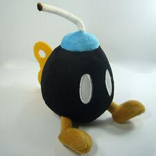 """Super Mario Bros Plush Bob-omb Bomb Soft Toy Nintendo Stuffed Animal Black 5"""""""