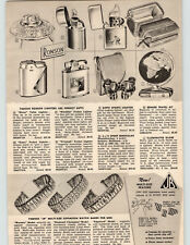 1955 PAPER AD Zippo Fly Fishing Town & Country Cigarette Lighter Sports
