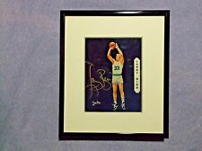 Larry Bird Signed Photo Picture 6 x 7 Inch Black Matted Frame Never Displayed