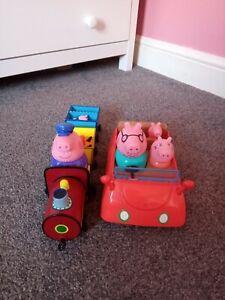 Peppa Pig Musical Car Grandpa Pig Musical Train carriage figures George toys