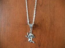 collier chaine argenté 46 cm avec pendentif ange 27x20mm