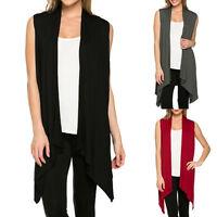 Fashion Women Sleeveless Waistcoat Cardigan Jacket Coat Top Knit Cardigan,Tops^