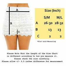 Fashion Sexy Women Korean Sweet Crochet Tiered Lace   Short Pants White S/M
