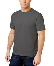 New Mens Club Room Crew Neck Charcoal Heather Solid Short Sleeve T Shirt Tee M