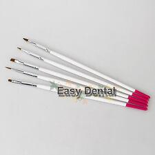 5pcs NEW Dental Lab Finest Sable Porcelain Ermine Brush Pen Equipment