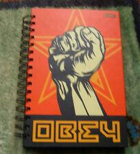 Obey Giant Shepard Fairey Spiral Bound Hardcover bookjournal ONU-Signé Imprimé